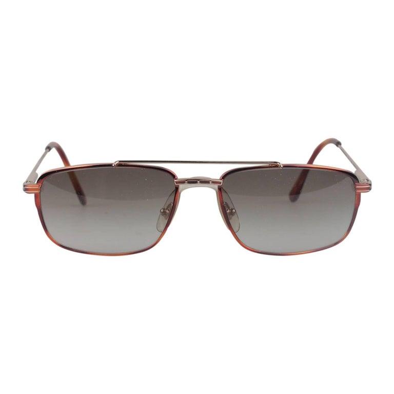 Safilo Daytona Vintage Brown Metal Pilot Sunglasses