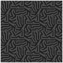 Dazzle Wallpaper in Charcoal by 17 Patterns
