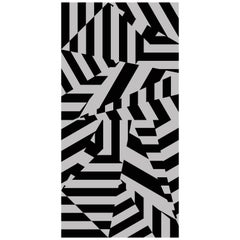 Dazzle Wallpaper in Grey by 17 Patterns