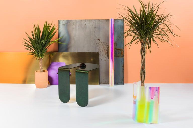 Dazzling Geometric Side Table by Birnam Wood Studio and Suna Bonometti For Sale 3