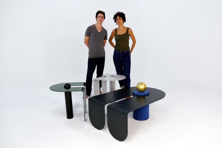 Dazzling Geometric Side Table by Birnam Wood Studio and Suna Bonometti For Sale 5