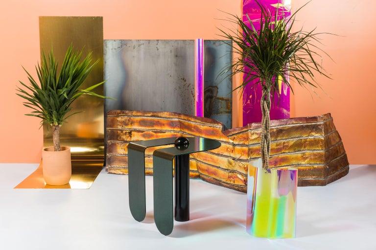 Dazzling Geometric Side Table by Birnam Wood Studio and Suna Bonometti For Sale 8