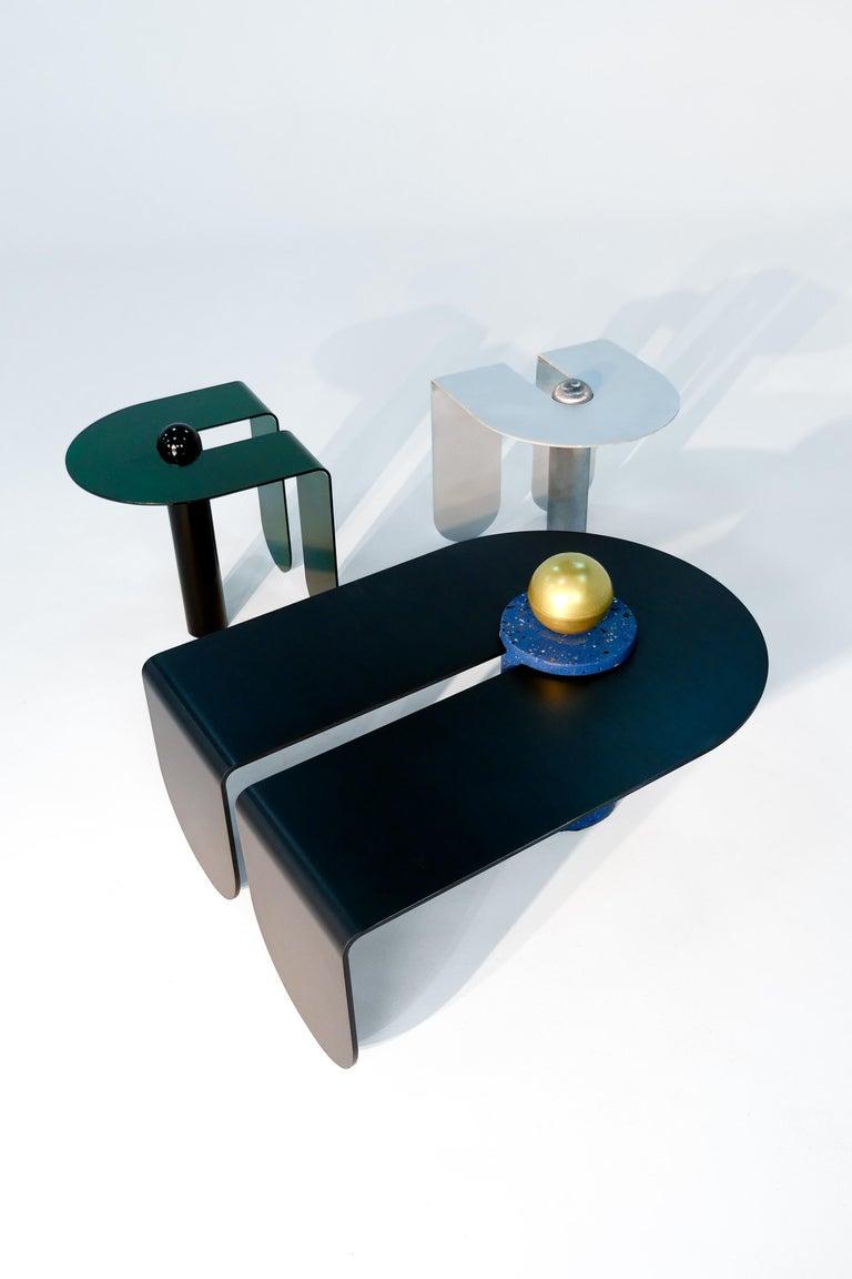 Dazzling Geometric Side Table by Birnam Wood Studio and Suna Bonometti For Sale 11