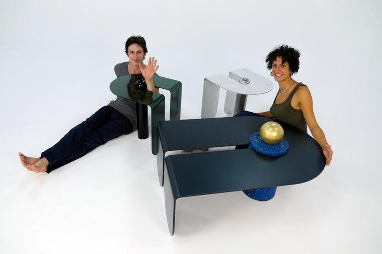 Contemporary Dazzling Geometric Side Table by Birnam Wood Studio and Suna Bonometti For Sale