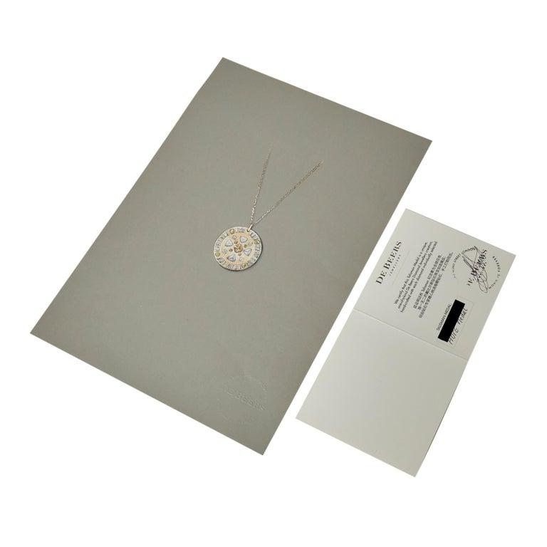 Modern De Beers 18 Karat Rose Gold Diamond Hope Talisman Large Pendant Necklace For Sale