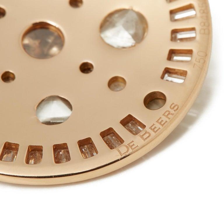 De Beers 18 Karat Rose Gold Diamond Hope Talisman Large Pendant Necklace For Sale 4