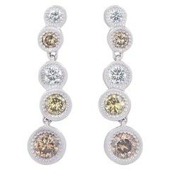 De Beers Aura Love Journey Diamond Earrings 1.48 Carat