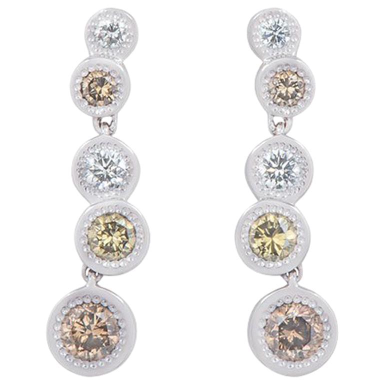ba908fefc De Beers Aura Love Journey Diamond Earrings 1.48 Carat For Sale at ...