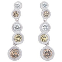 De Beers Aura Love Journey Diamond Earrings 1.48 Carat