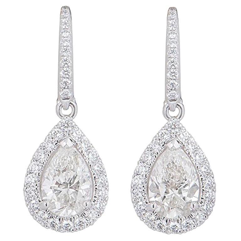 4eda6d7a6 De Beers Diamond Aura Earrings at 1stdibs