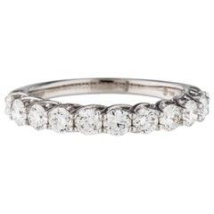 De Beers Forevermark 14K Gold VS 1.03ct Diamond Eternity Ring Wedding Band