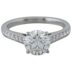 De Beers Platinum Diamond Solitaire Engagement Ring