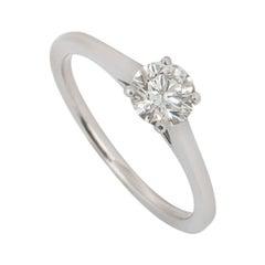 De Beers Platinum Diamond Engagement Ring 0.52 Carat H/VS1
