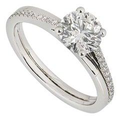 De Beers Platinum The Promise Ring 1.14 Carat F/IF