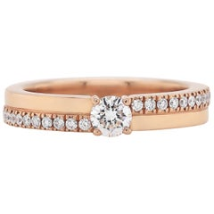 De Beers 'The Promise' Small 18 Carat Rose Gold Diamond Engagement Ring