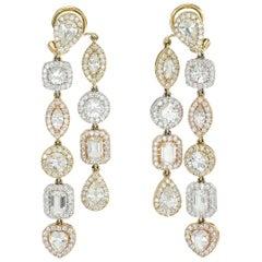 de Boulle Collection White Sapphire Dangle Earrings