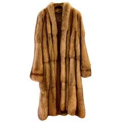 De Carlis Vintage Brown Tan Royal Russian Zibeline Sable Fur Long Coat