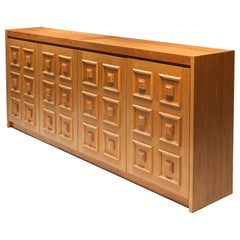 De Coene Brutalist Credenza in Natural Oak