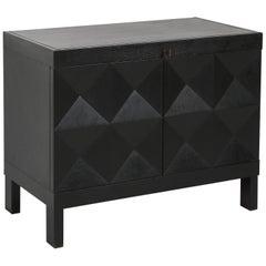 De Coene Brutalist Stained Oak Cabinet