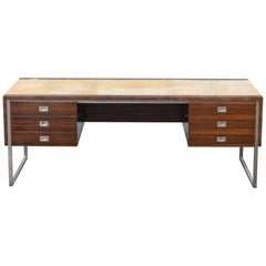 Large De Coene Executive Desk, Belgium,1960s
