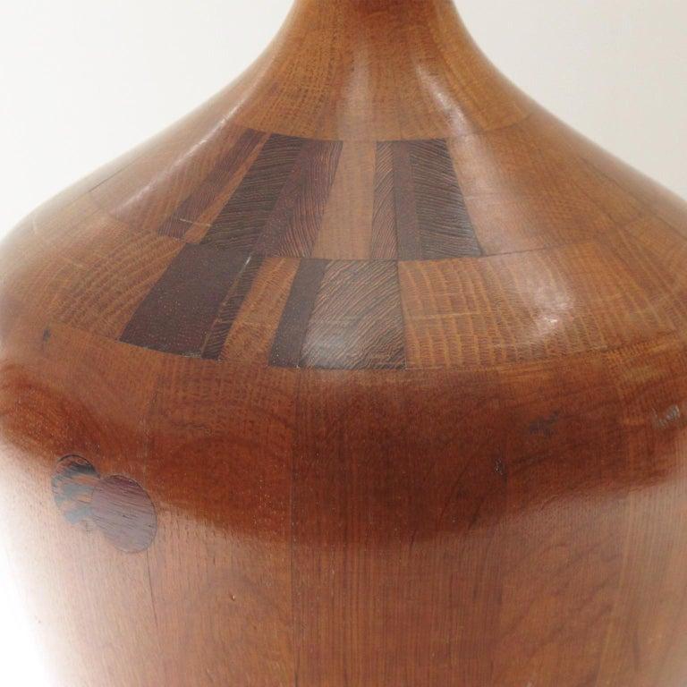 Mid-20th Century De Coene Freres 1940s Art Deco Modernist Mahogany Marquetry Vase For Sale