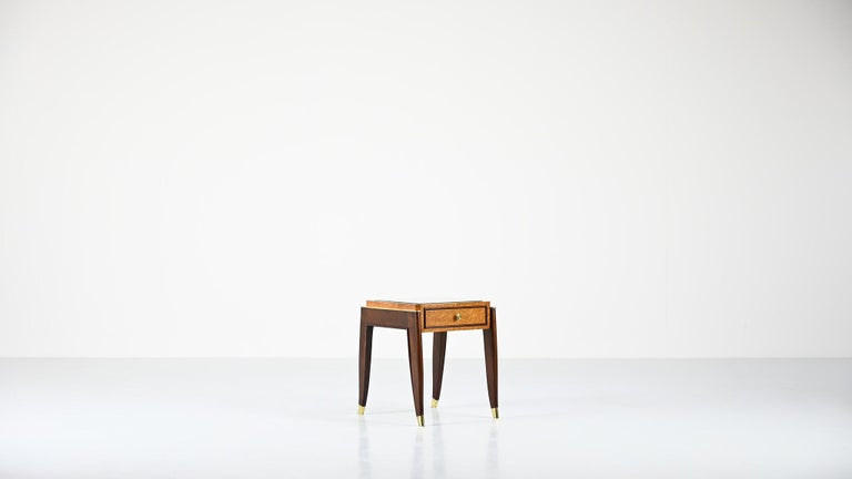 Art Deco De Coene Frères, Ascribed to, a Pair of Art Déco Nightstands For Sale