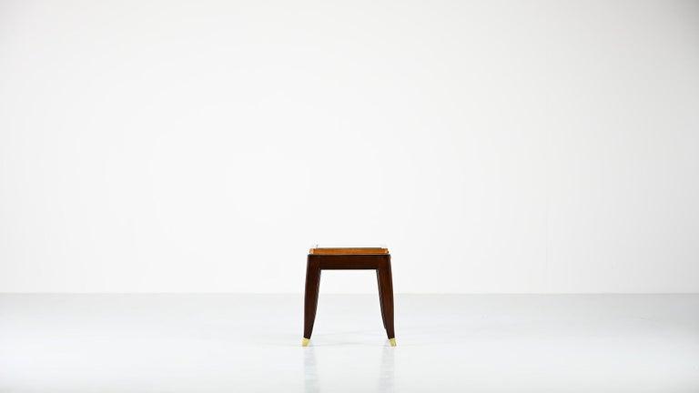 Belgian De Coene Frères, Ascribed to, a Pair of Art Déco Nightstands For Sale
