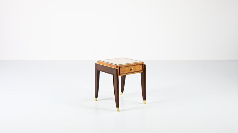 De Coene Frères, Ascribed to, a Pair of Art Déco Nightstands In Good Condition For Sale In Munster, NRW