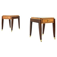 De Coene Frères, Ascribed to, a Pair of Art Déco Nightstands