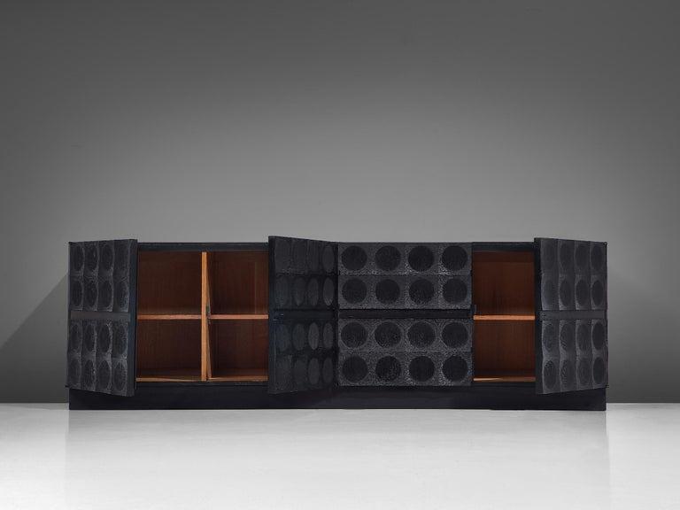 De Coene Large Sideboard in Darkened Oak For Sale 4
