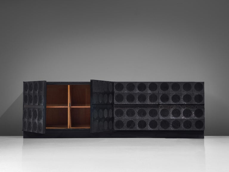 De Coene Large Sideboard in Darkened Oak In Good Condition For Sale In Waalwijk, NL