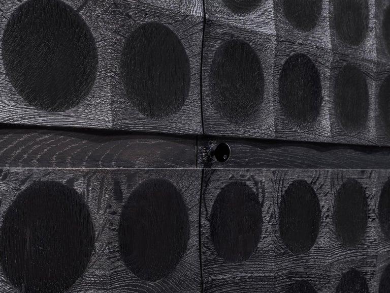 Late 20th Century De Coene Large Sideboard in Darkened Oak For Sale