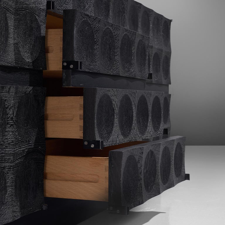 De Coene Large Sideboard in Darkened Oak For Sale 2