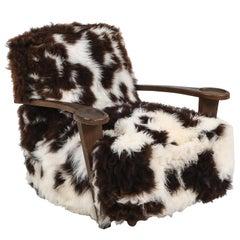 De Coene Lounge Chair in Sheep Wool