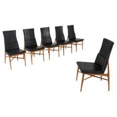 De Coene 'Madison' Dining Chairs in Walnut, Belgium, 1960s