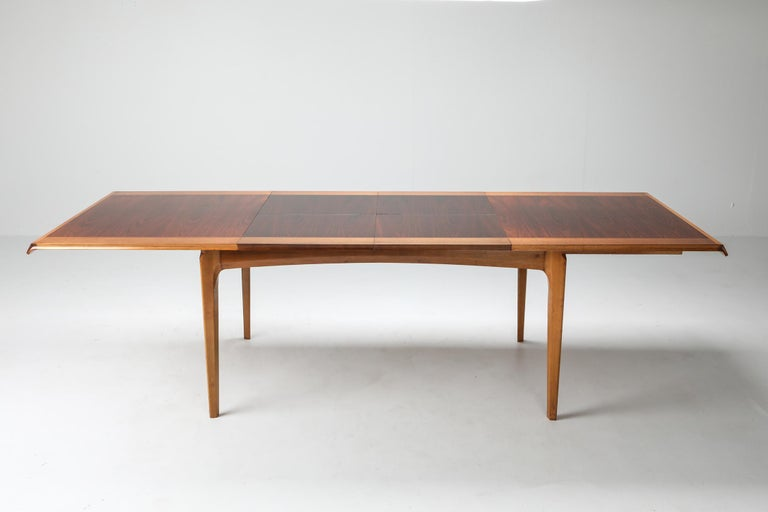 20th Century De Coene 'Madison' Extendable Dining Table, Belgium, 1960s For Sale
