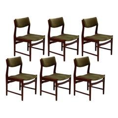 De Coene Set of Six Dining Chairs, 1970s, Belgium