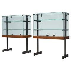 De Coene Showcase in Glass Steel and Teak