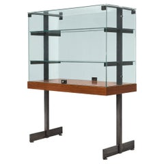 De Coene Showcase in Glass, Steel and Teak