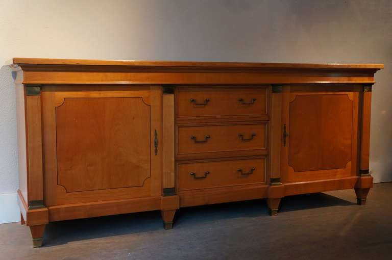 Lacquered De Coene Sideboard in Cherry Wood For Sale