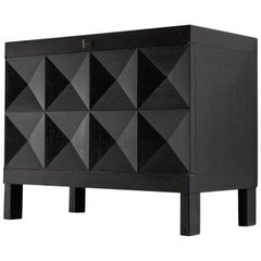 De Coene Small Sideboard in Black Stained Oak