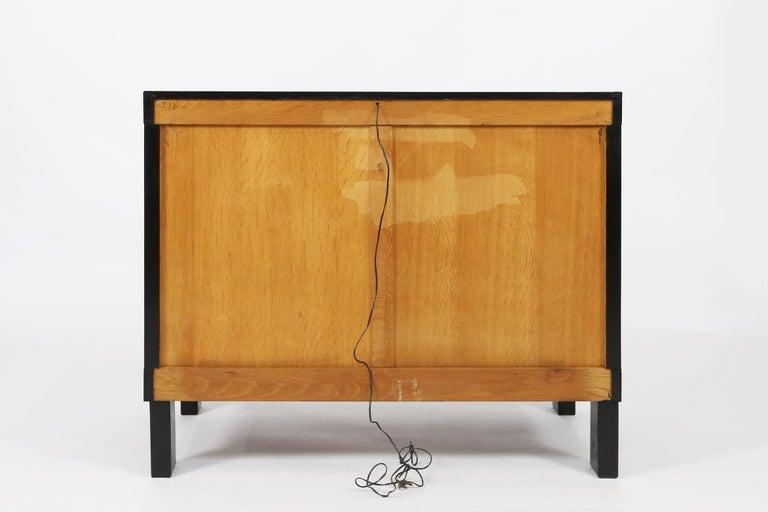 De Coene Small Sideboard or Bar Cabinet in Black Stained Oak, 1970s For Sale 4