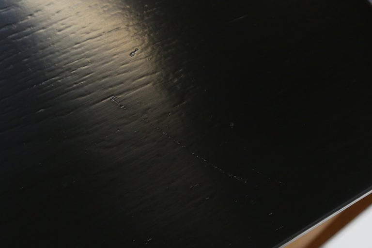De Coene Small Sideboard or Bar Cabinet in Black Stained Oak, 1970s For Sale 9