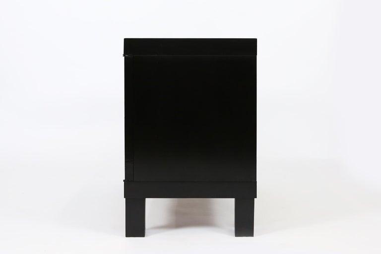 Belgian De Coene Small Sideboard or Bar Cabinet in Black Stained Oak, 1970s For Sale