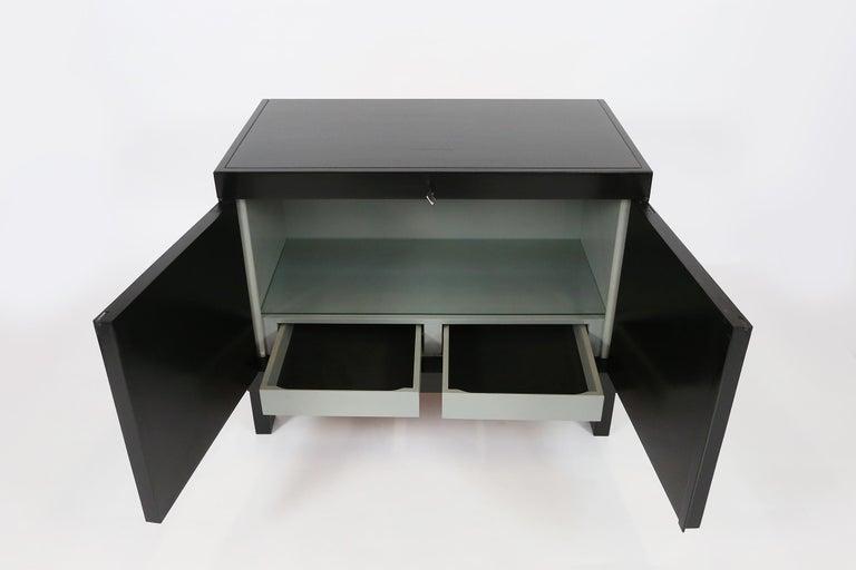 De Coene Small Sideboard or Bar Cabinet in Black Stained Oak, 1970s For Sale 1
