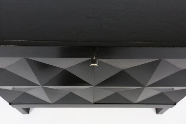 De Coene Small Sideboard or Bar Cabinet in Black Stained Oak, 1970s For Sale 2