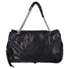 De Couture  2010s Black Leather Shoulder Bag