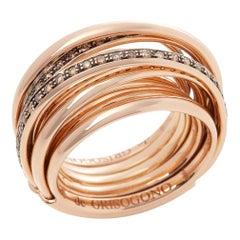De Grisogono 18 Karat Rose Gold Brown Diamond Allegra Cocktail Ring