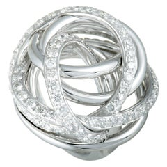 de Grisogono 18 Karat White Gold Diamond Tangled Swirl Ring