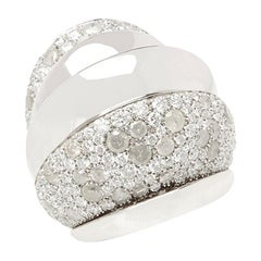 De Grisogono 18 Karat White Gold Icy and White Diamond Cocktail Jane Ring